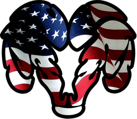 American Flag Ram Decal / Sticker 32