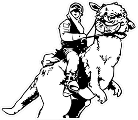 Taun Taun Decal / Sticker 01