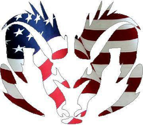 American Flag Ram 03 Decal / Sticker