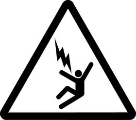 Electrocution Hazard Sign Decal / Sticker 03