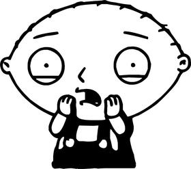Stewie Griffin Decal / Sticker 06