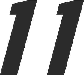 11 Race Number Motor Font Decal / Sticker