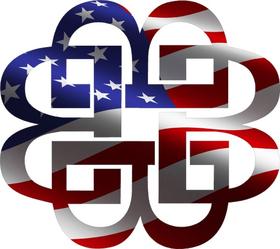 Breaking Benjamin American Flag Decal / Sticker 04