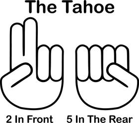 The Tahoe Shocker Decal / Sticker 01