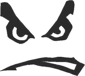 Mad Face Decal / Sticker