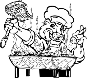 Chef Cooking Cougars / Panthers Mascot Decal / Sticker