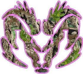 Pink Heavy Timber Camo Ram Decal / Sticker