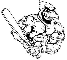 Baseball Cardinals Mascot Decal / Sticker 4