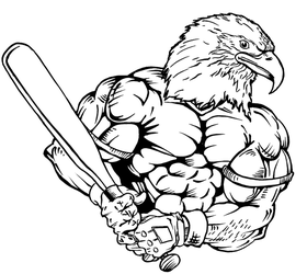 Baseball Eagles Mascot Decal / Sticker 4