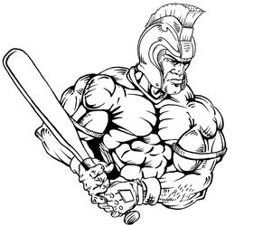 Baseball Paladins / Warriors Mascot Decal / Sticker 2