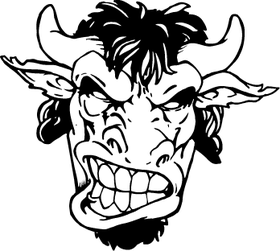 Buffalo Head Mascot Decal / Sticker hd4