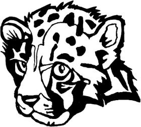 Cub Cougars / Panthers Mascot Decal / Sticker