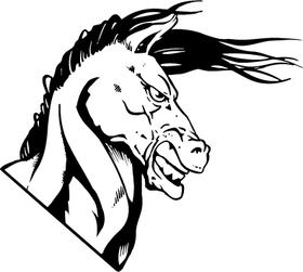 Horse Head Mascot Decal / Sticker 01
