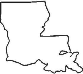 Louisiana Decal / Sticker 02