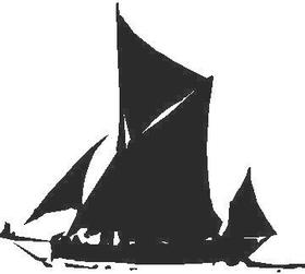 Sailboat 02 Decal / Sticker