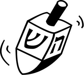 Dreidel Decal / Sticker 02