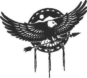 Eagle Cowboy Decal / Sticker