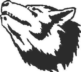 Wolf Decal / Sticker 03