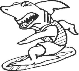 Shark Decal / Sticker 04