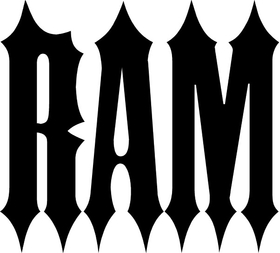Ram Lettering Decal / Sticker 17