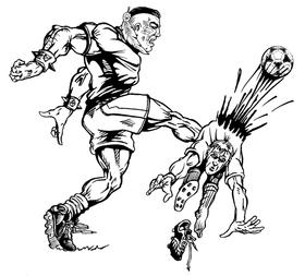 Soccer Braves / Indians / Chiefs Mascot Decal / Sticker sr1