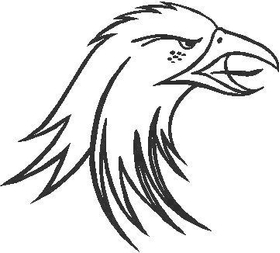 Eagle Decal / Sticker 03