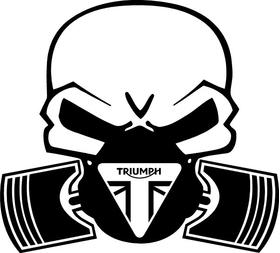 Triumph Piston Gas Mask Skull Decal / Sticker 40