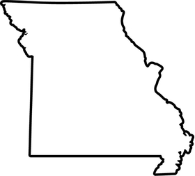 Missouri Outline Decal / Sticker 02