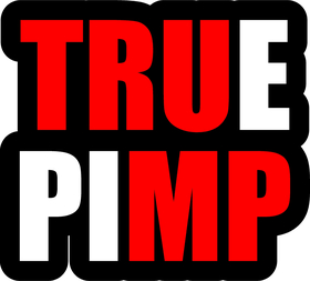 TRUMP True Pimp Decal / Sticker 05