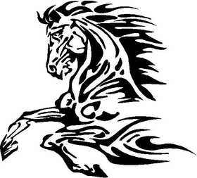 Tribal Horse Decal / Sticker 14