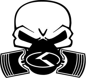 KIA Piston Gas Mask Skull Decal / Sticker 05