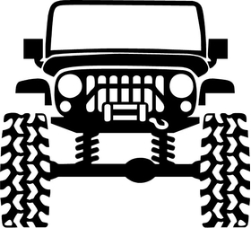 Jeep Outline Decal / Sticker 01