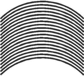 Rim Stripe for 17 inch rim THIN STYLE