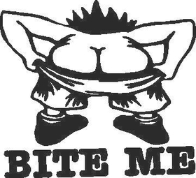 Bite Me Decal / Sticker