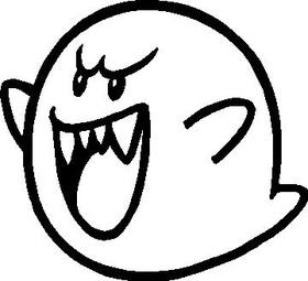 Mario Boo Decal / Sticker