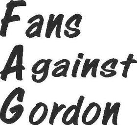 Fans Against Gordon Decal / Sticker