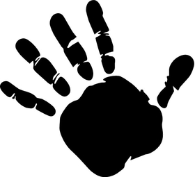Hand Print Decal / Sticker 03