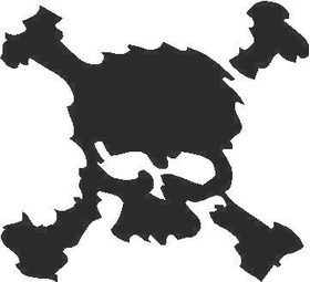Skull Decal / Sticker 01