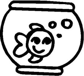 Fish Stick Figure Decal / Sticker 02