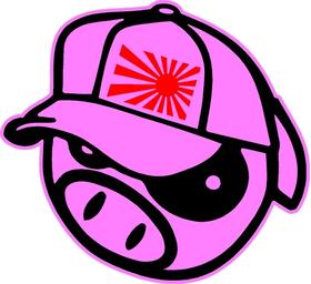 Pink JDM Pig Decal / Sticker