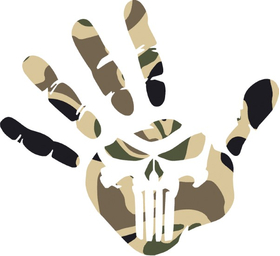 Camouflage Punisher Jeep Wave Decal / Sticker 166