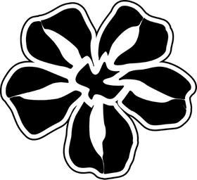 Dove Flower Decal / Sticker 07
