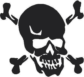 Skull Decal / Sticker 06
