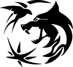The Witcher Wolf Decal / Sticker 09