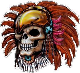 Indian Skull Decal / Sticker