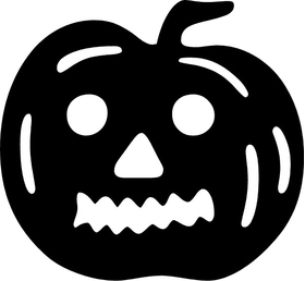 Jack-O-Lantern Decal / Sticker 02