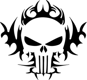 Punisher Tribal Decal / Sticker 130