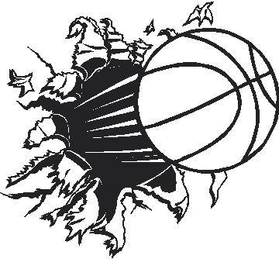 Basketball Hole Decal / Sticker