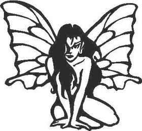 Butterfly Girl Decal / Sticker