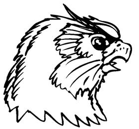 Owls Mascot Decal / Sticker 4